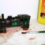 Groene batterijlok Trix Express