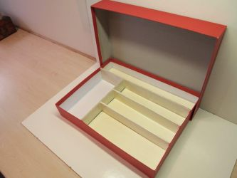 replica doos met houten vakken 1953- compleet € 24,50 (nr: TrixRep2)
